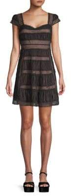 Free People Ruched Baby Doll Mini Dress