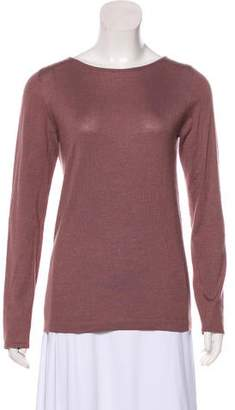 Brunello Cucinelli Cashmere-Blend Long Sleeve Top