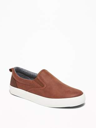 Old Navy Faux-Leather Slip-Ons for Boys