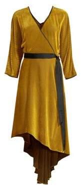 Diane von Furstenberg Women's Eloise Stretch Silk Wrap Dress - Golden Rod - Size Medium