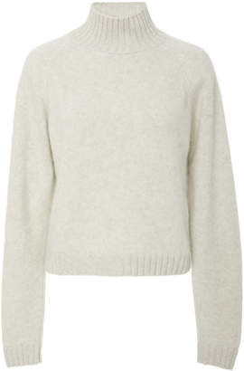 The Elder Statesman Highland Cropped Turtleneck Sweater