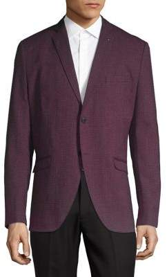 Selected Textured Long Sleeve Sports Coat