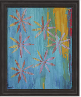 Metaverse Stained Glass Blooms I by Natalie Avondet Framed Art