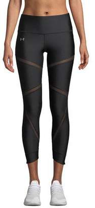 Under Armour HeatGear® Cropped Mesh Performance Leggings