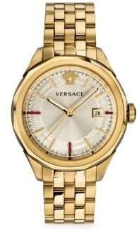 Versace Glaze IP Goldplated Chronograph Bracelet Watch