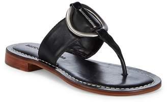 Bernardo Women's Metal Circle Leather Sandals