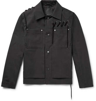 Craig Green Lace-Detailed Bonded Cotton-Canvas Jacket - Black