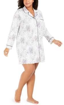 Alfani Plus Size Printed Sleepshirt, Created For Macy's