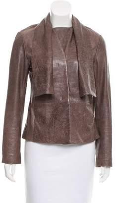 MM6 MAISON MARGIELA MM6 by Maison Martin Margiela Distressed Leather Jacket