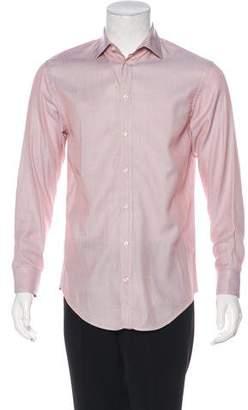 Armani Collezioni Patterned Woven Shirt