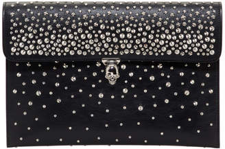 Alexander McQueen Black Skull Closure Clutch