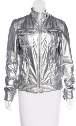 Dolce & Gabbana Metallic Zip-Up Jacket