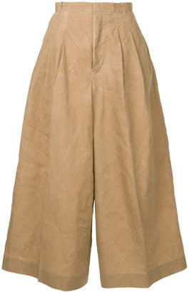 Facetasm wide-leg trousers
