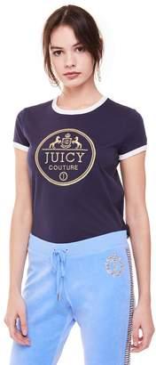 Juicy Couture Regal Crest Ringer Tee