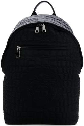 cd81177338d4 Versace quilted Medusa backpack