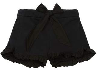 Chloé Sale - Bow Ruffled Fleece Shorts