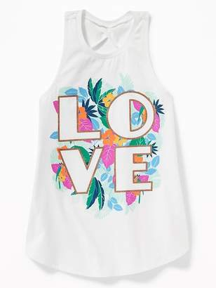 Old Navy Graphic Twist-Back Tunic Tank for Girls