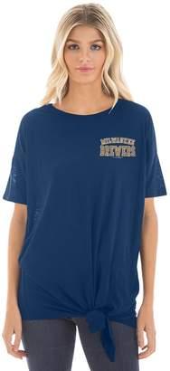 New Era Women's Milwaukee Brewers Side Tie Tee