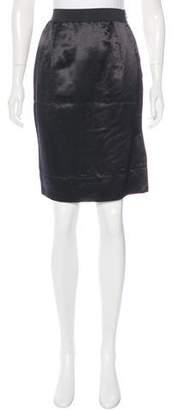 Lanvin Satin Knee-Length Skirt