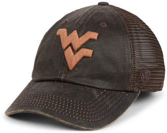 0ba35e751a2 Top of the World West Virginia Mountaineers Chestnut Waxed Adjustable  Strapback Cap