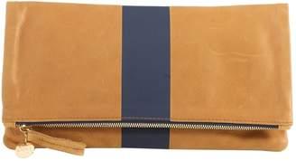 Clare Vivier Camel Leather Clutch Bag