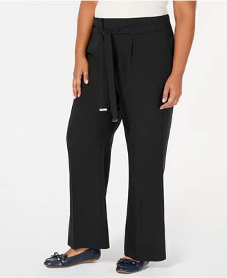 JM Collection Tie-Front Wide-Leg Pants