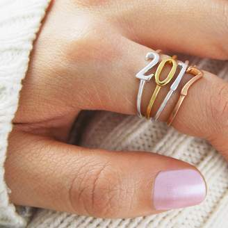 Otis Jaxon Silver Jewellery Gold And Silver Personalised Stacking Number Ring