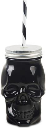 Home Essentials Closeout! Skull Beverage Jar with Lid & Straw