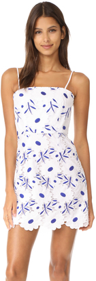 Milly Petal Eyelet Lace Mini Dress $475 thestylecure.com