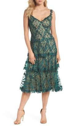 Tadashi Shoji 3D Floral Midi Dress