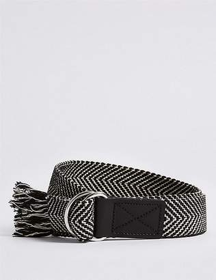 Marks and Spencer Pure Cotton Ring Woven Tassel Hip Belt