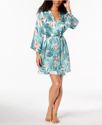 Thalia Sodi Tropical-Print Satin Wrap, Created for Macy's