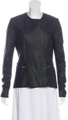 Veda Leather Zip-Up Jacket