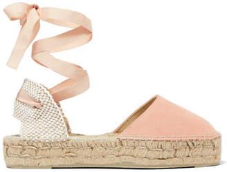 Manebi Hamptons Suede Espadrilles - Pink