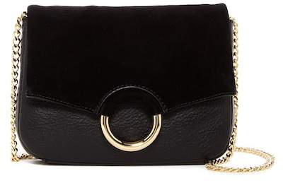 Vince Camuto Adina Leather and Suede Crossbody Bag