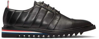 Thom Browne Black Quilted Toe Cap Brogues