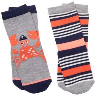 Gymboree Crab & Stripe Socks