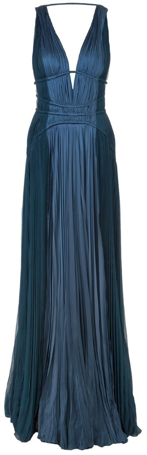 J. Mendel pleated shift gown