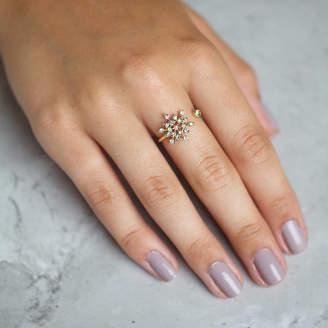 Junk Jewels Jewelled Snowflake Ring