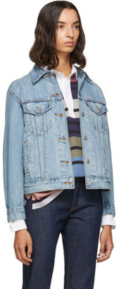 Levi's Levis Blue Denim Ex-Boyfriend Jacket