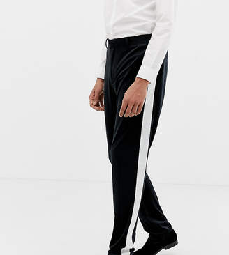 Asos Design DESIGN Tall skinny tuxedo suit pants in black