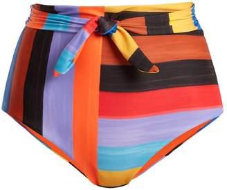 Mara Hoffman Jay high-waist striped bikini briefs