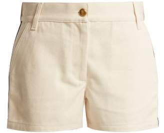 Gucci Web Stripe Cotton Drill Shorts - Womens - Cream