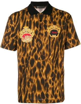 Versace Animalier embroidered polo shirt