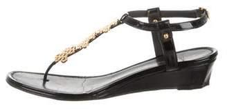 Diane von Furstenberg Love Knot Patent Leather Sandals