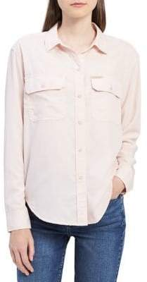Calvin Klein Jeans Suede Button-Down Shirt