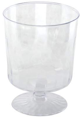 clear Kaya Collection - Disposable Plastic 8oz Wine Glasses Crystal-Like Design (20 pieces)