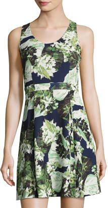 Cynthia Steffe Madison Sleeveless Floral-Print Fit & Flare Dress