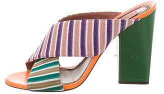 Missoni Criss-Cross Leather-Trimmed Mules