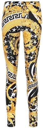 Versace Baroque printed leggings